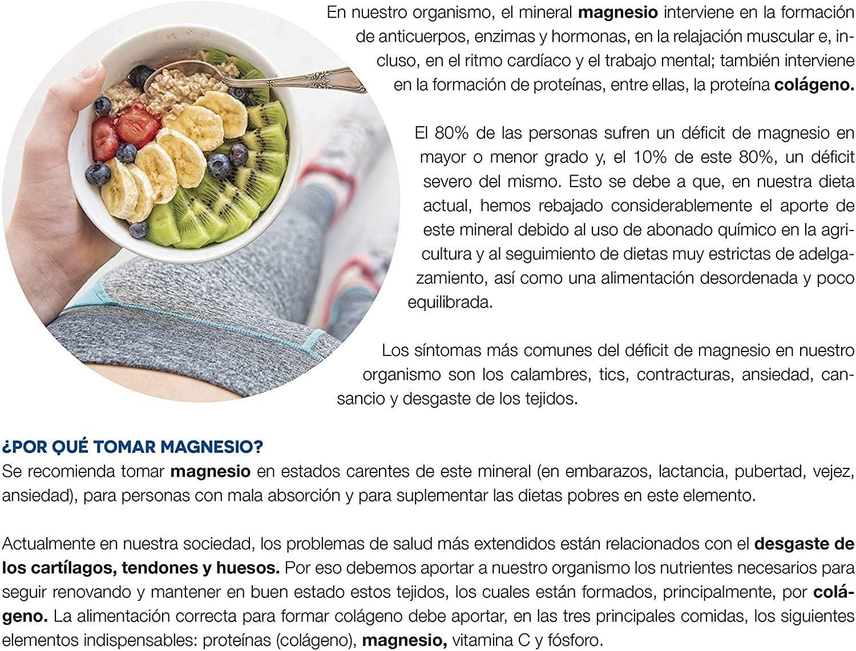 AMLsport - Magnesio total – 12 sobres de 20 ml (sabor limón) disminuye el cansancio y la fatiga, mejora el funcionamiento de músculos, huesos y ...
