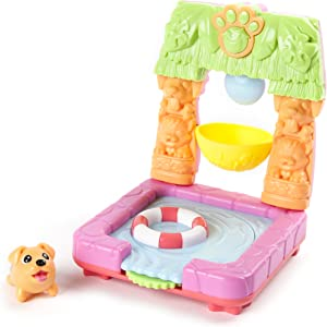 Chubby Puppies and Friends – 2-in 1 Transformable Flip N' Island Party Playset with Hawaiian Labrador Collectible Figure