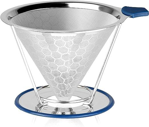 Verter sobre el filtro de goteo de café | Gotero reutilizable de café de cono de