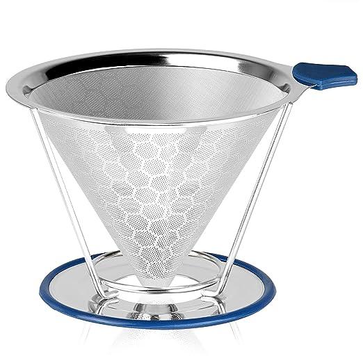 Verter sobre el filtro de goteo de café | Gotero reutilizable de ...