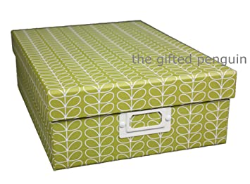 sc 1 st  Amazon UK & Orla Kiely A4 Storage Box - Green: Amazon.co.uk: Kitchen u0026 Home