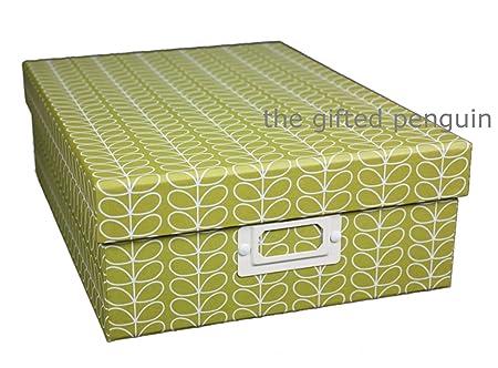 Orla Kiely A4 Storage Box - Green  sc 1 st  Amazon UK & Orla Kiely A4 Storage Box - Green: Amazon.co.uk: Kitchen u0026 Home