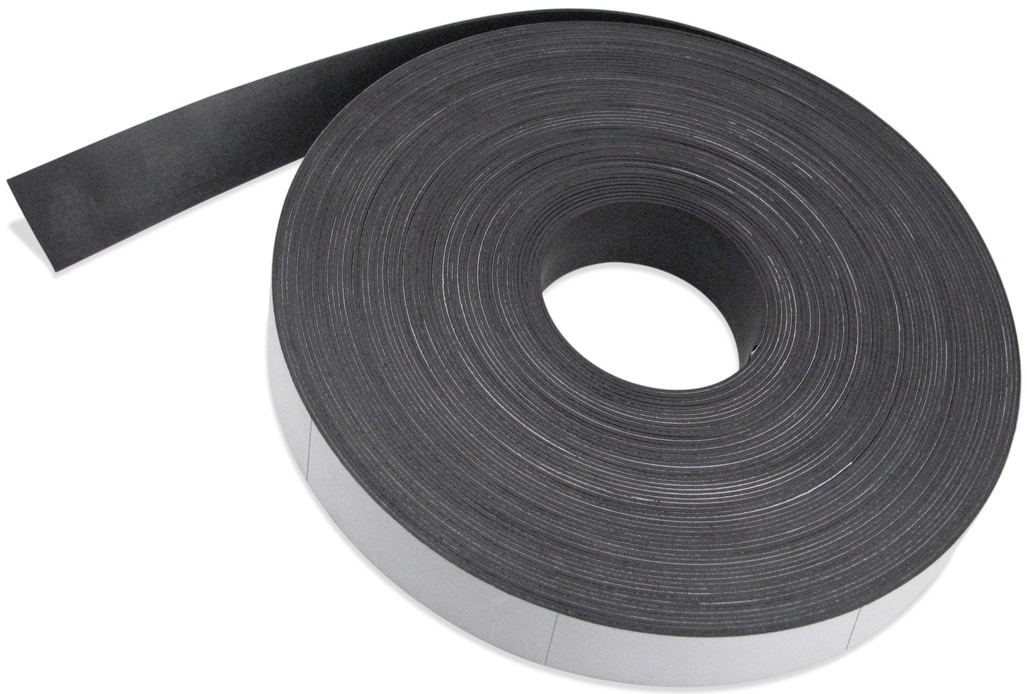 Flexible Magnet Strip with White Vinyl Coating, 1/32'' Thick, 2'' Height, 200 Feet Scored Every 3'', 1 Roll with - 796-2'' x 3'' Pieces