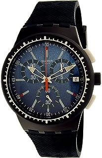 Swatch Mens Gara In Blu SUSN410 Blue Rubber Swiss Quartz Watch