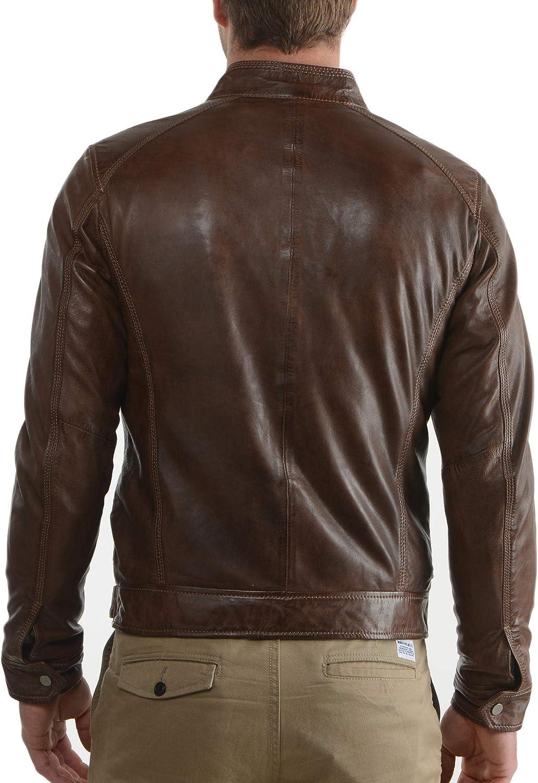 Ayesha Mens Leather Jackets Motorcycle Bomber Biker Genuine Lambskin 23