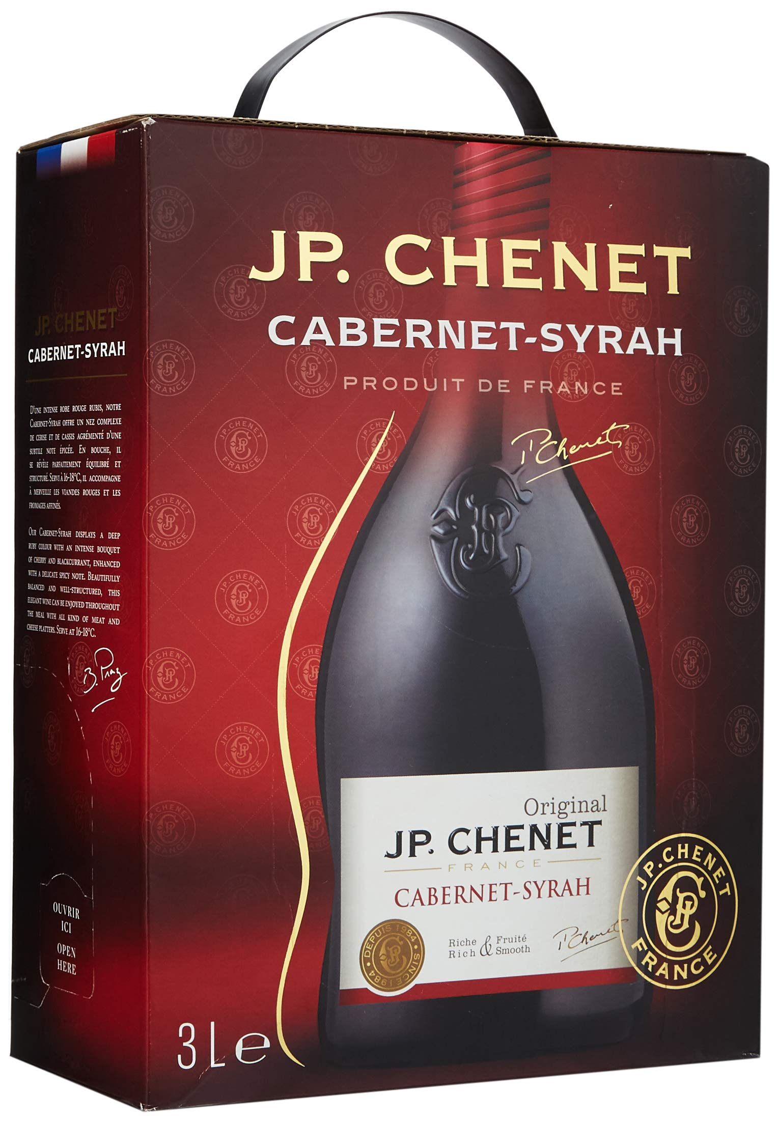 Jp Chenet Cabernet Syrah 3l Bag In Box Buy Online In Albania