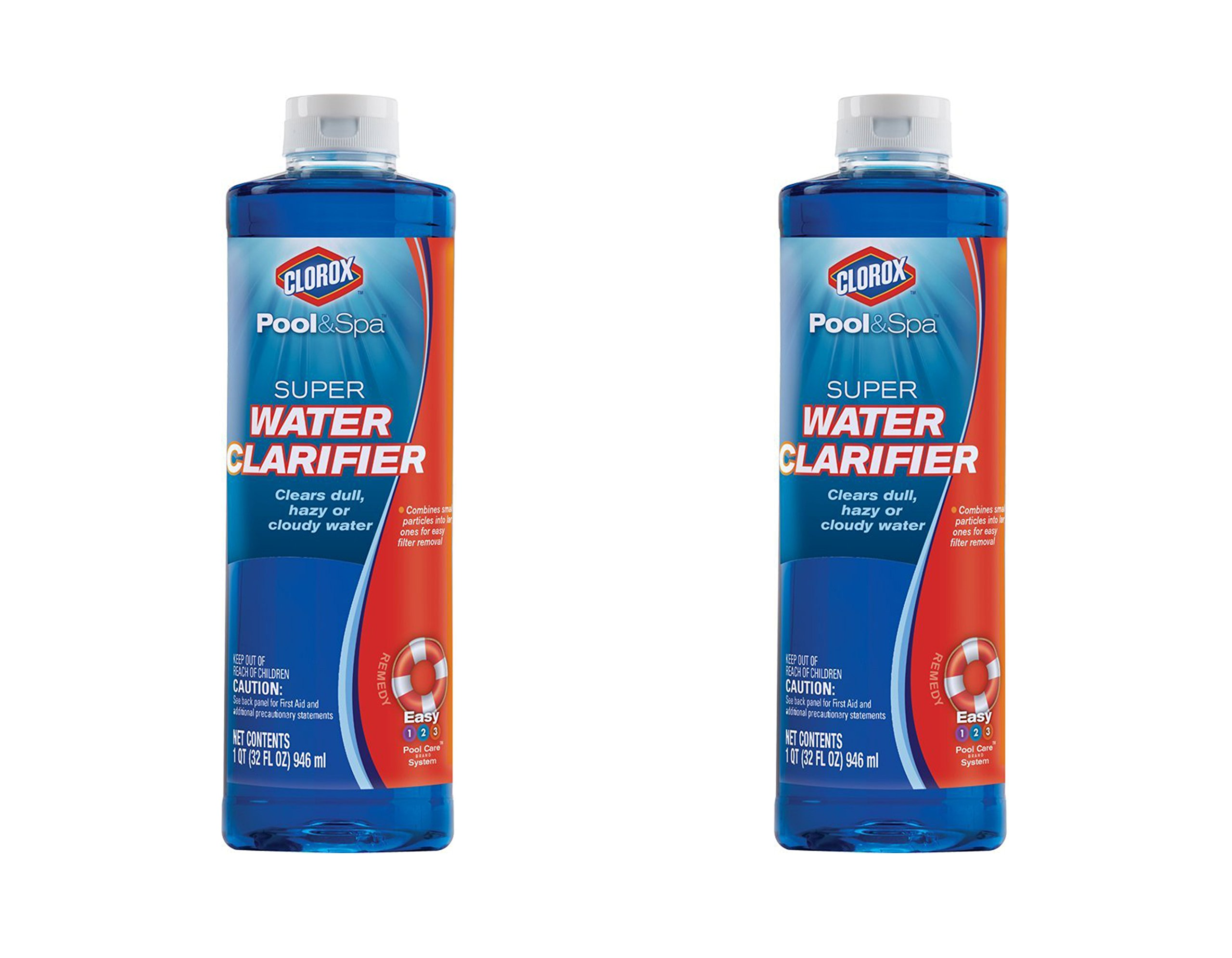 Clorox Pool&Spa Super Water Clarifier, 1-Quart 58032CLX (2, 32 fl oz)