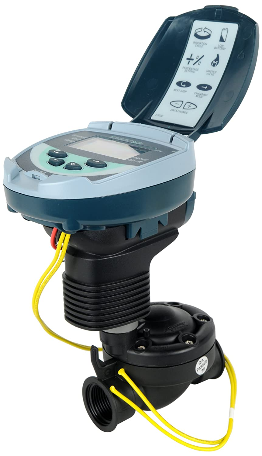 Galcon 61012 DC-1 1-Station Battery Operated Controller with 1-Inch Valve Galcon USA LTD GAJ1SH322P0