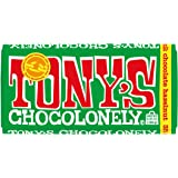 Tony's Chocolonely 32% Milk Chocolate Bar with Hazelnut, 6.35 Ounce