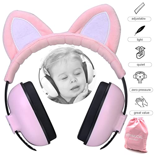 Baby Ear Protection Ear Muffs for 3 Months to 2+ Years Noise Reduction Hearing Protection