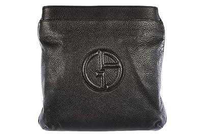 1e44b40ade77c Giorgio Armani men's leather cross-body messenger shoulder bag ...