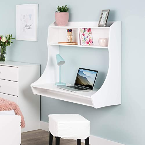 Prepac Compact Hanging Desk, White