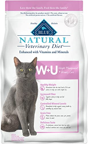 Blue Buffalo Natural Veterinary Diet Weight Management Urinary Care for Cats 6.5Lbs