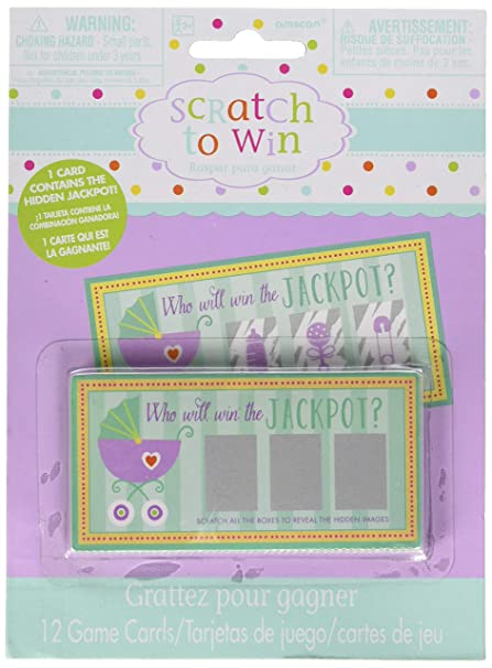 Amscan 380049 Baby Shower Scratch Off Cards