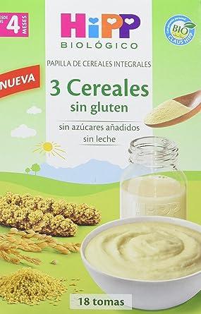 HiPP Biológico, Cereales para bebé (Sin Gluten) - 4 de 400 gr. (Total 1600 gr.)