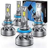 $69 » Fahren H11/H9/H8 Low Beam 9005/HB3 High Beam LED Headlight Bulbs Combo, 20000…