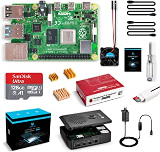 LABISTS Raspberry Pi 4 Complete Kit with Pi 4 Model B 8GB RAM Board, 128GB Micro SD Card, 5V 3A Power Supply, Cooling Fan and 3 Heatsinks, Case, HDMI Cable, SD Card Reader