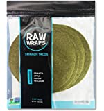 Raw Wraps Tacos (Spinach, Single Bag)