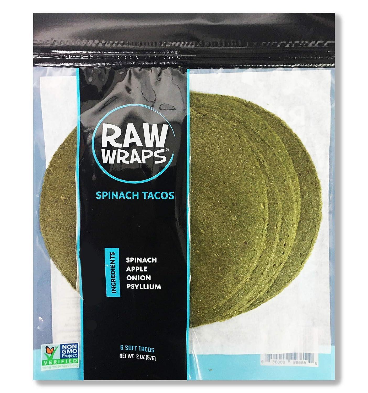 Raw Wraps Tacos (Spinach, Single Bag)