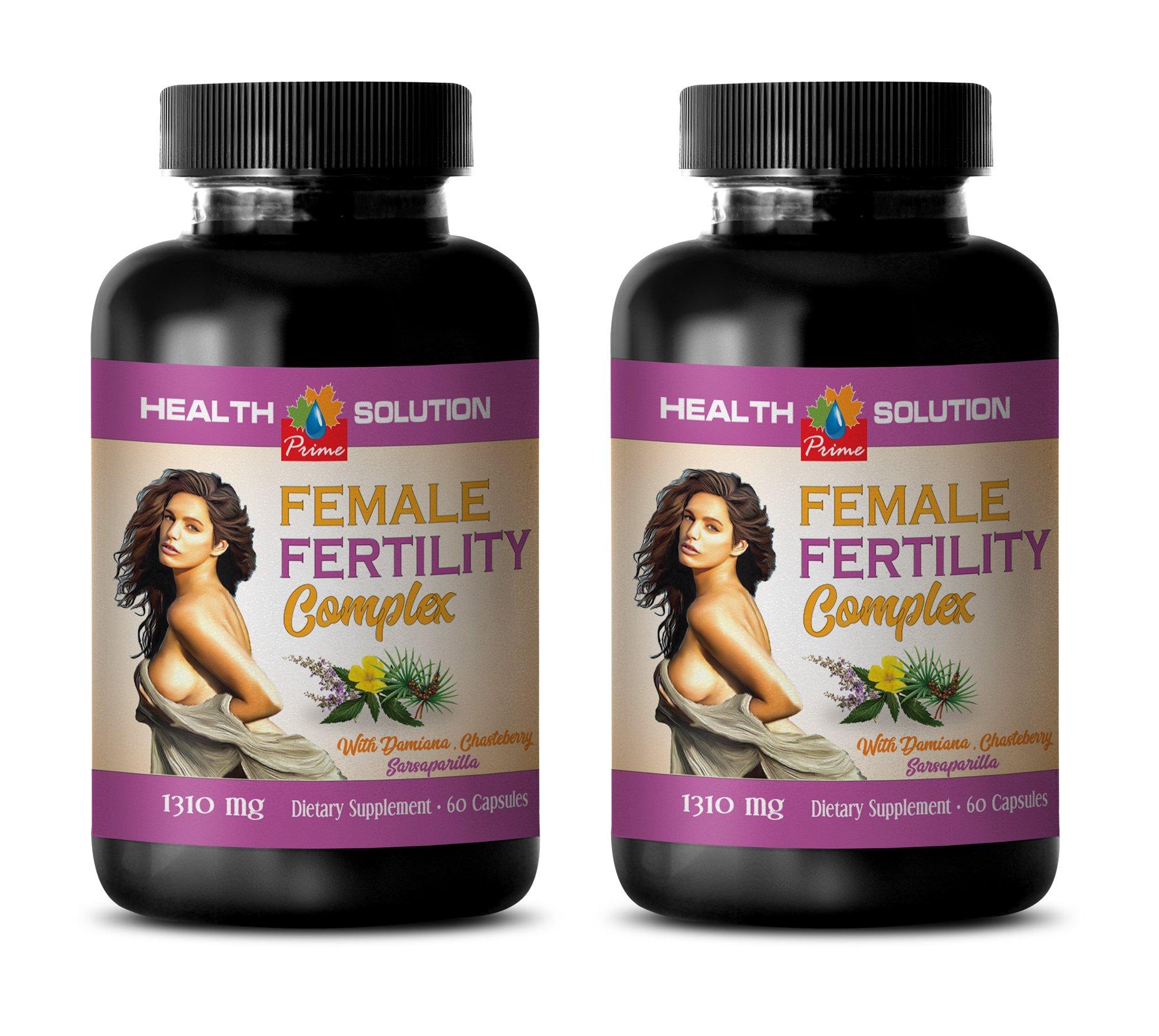 libido enhancer for women - FEMALE FERTILITY COMPLEX - damiana capsules - 2 Bottles 120 Capsules by Health Solution Prime