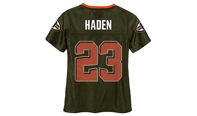 half off 126c1 a0f34 Amazon.com: Joe Haden Cleveland Browns #23 Brown Girls Youth ...