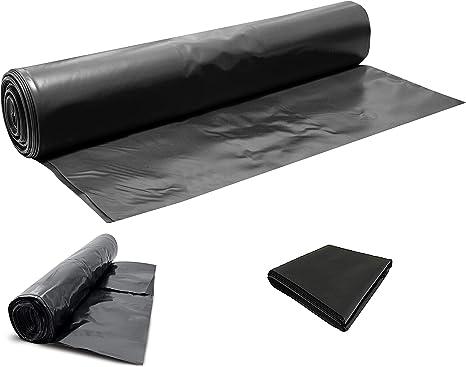 1m x 5m Black Polythene Sheeting Garden Cover 500g 125mu