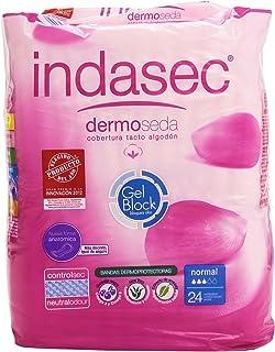 Indasec - Dermoseda - Compresas con cobertura tacto algodón - 24 compresas