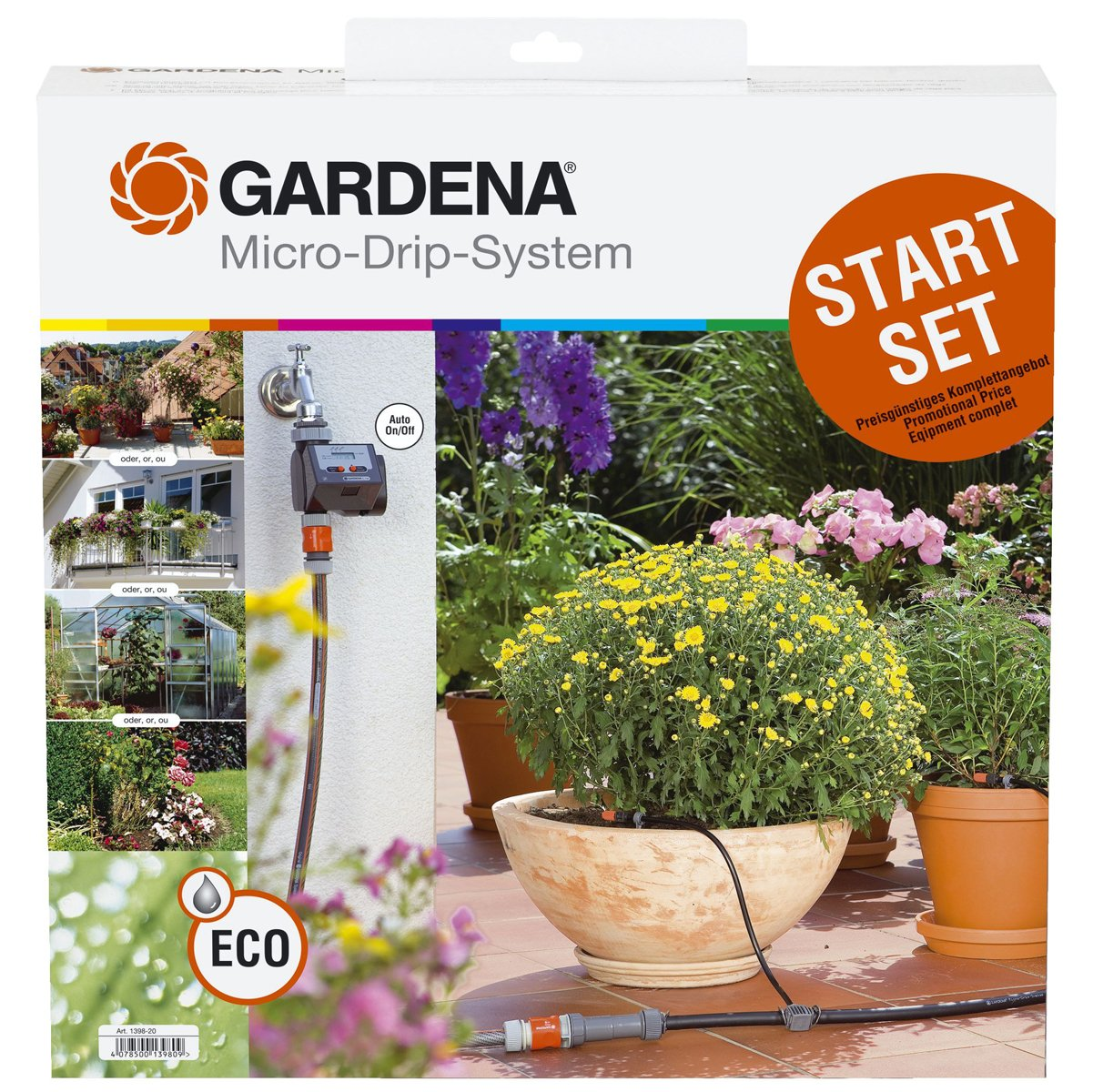 Gardena 1398 Micro-Drip Watering Starter Kit With Timer by Gardena