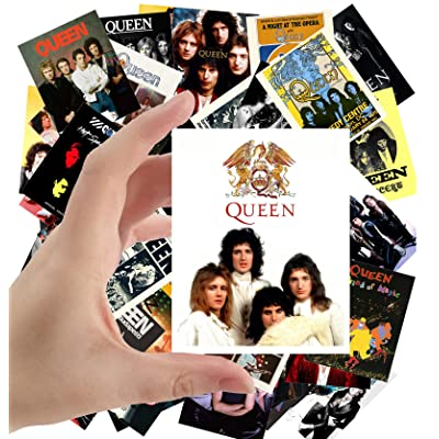 "Large Stickers (24pcs 2.5""x3.5"") QUEEN FREDDIE MERCURY Rock Music Posters Photos Vintage Magazine covers: Toys & Games"