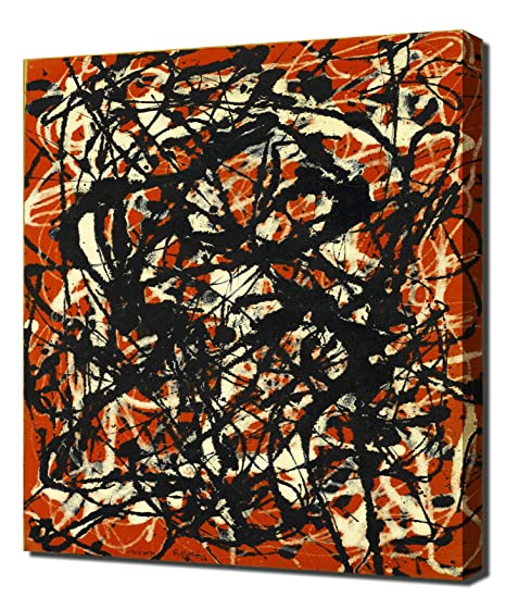 free form jackson pollock original  Jackson Pollock - Free Form - Canvas Art Print Reproduction