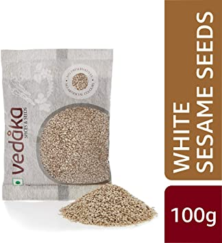 Amazon Brand - Vedaka Natural White Sesame Seeds (Til), 100g