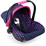 Bayer Design Baby Doll Deluxe Car Seat with Canopy- Blue and Pink