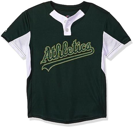50f3438f436 Amazon.com : Youth Small Oakland Athletics NEW MLB Color Block ...