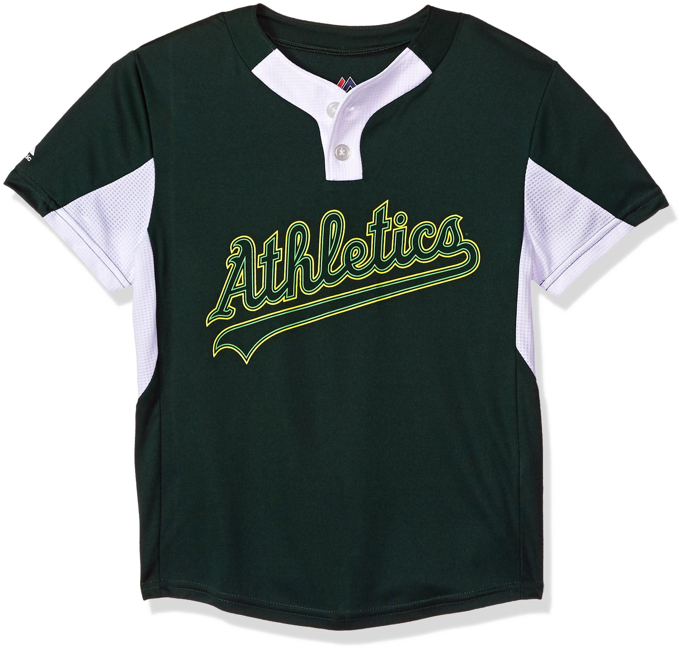 Amazon.com  Youth Small Oakland Athletics NEW MLB Color Block Jersey ... fb1ffa519