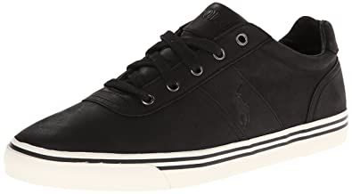 0a622c66e06 Polo Ralph Lauren Men s Hanford-Western Leather Fashion Sneaker Black  Leather 8.5 D(M) US: Buy Online at Low Prices in India - Amazon.in