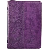 "Purple ""Faith"" Bible / Book Cover - Hebrews 11:1 (Large)"