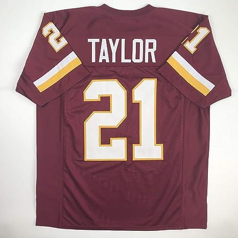 Amazon.com  Unsigned Sean Taylor Washington Burgundy Custom Stitched ... 4a25c7592
