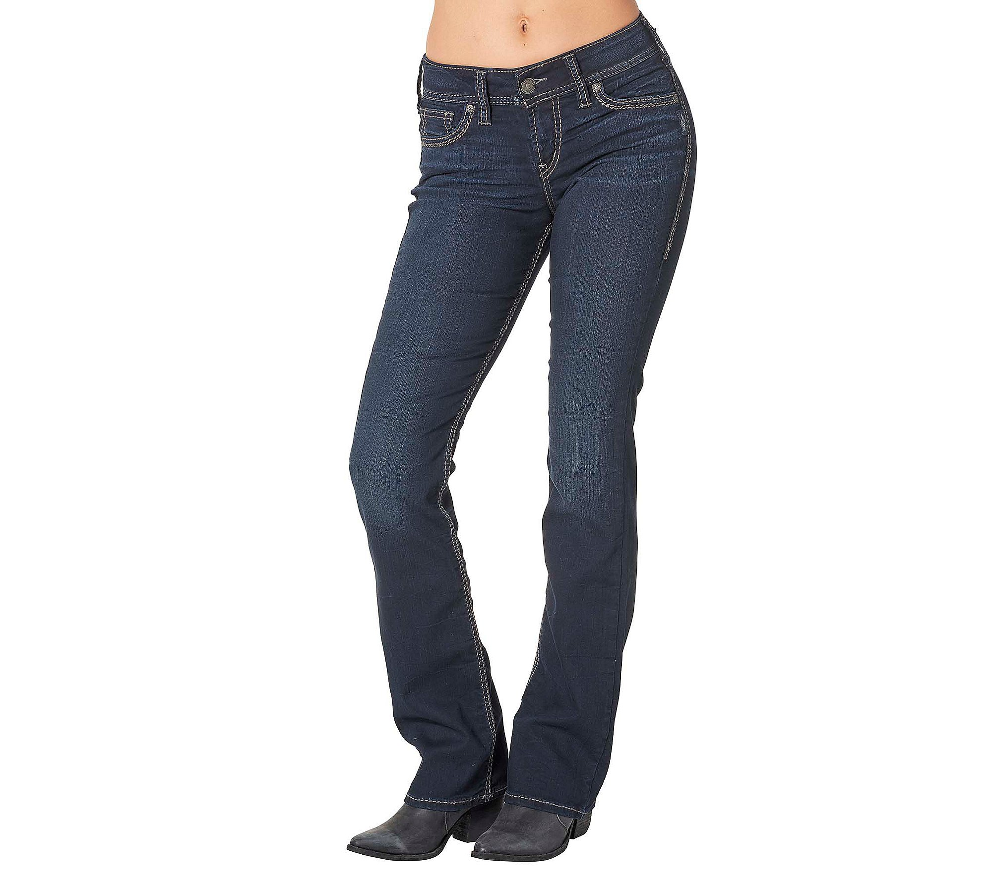 Silver Jeans Co. Suki Mid Slim Boot Jeans 24 by Silver Jeans Co.