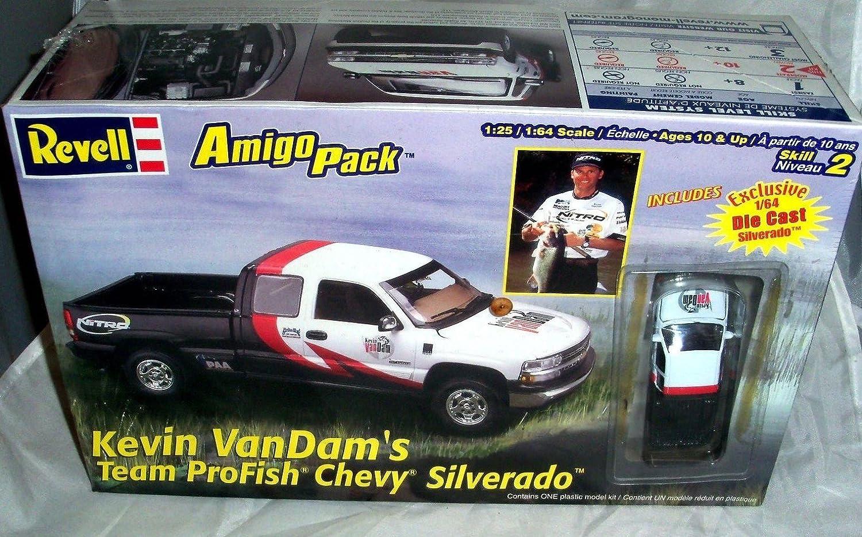 #6691 Revell Amigo Pack Kevin VanDam's Team Profish Chevy Silverado Pickup 1/25 Scale Plastic Model Kit 81TOxhQPDOLSL1500_