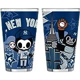 MLB New York Yankees Tokidoki Sublimated Pint Glass (2-Pack), 16-Ounce
