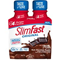 SlimFast Original Rich Chocolate Royale Shake – Ready to Drink Meal Replacement – 10g of protein – 11oz. Bottle – 4…