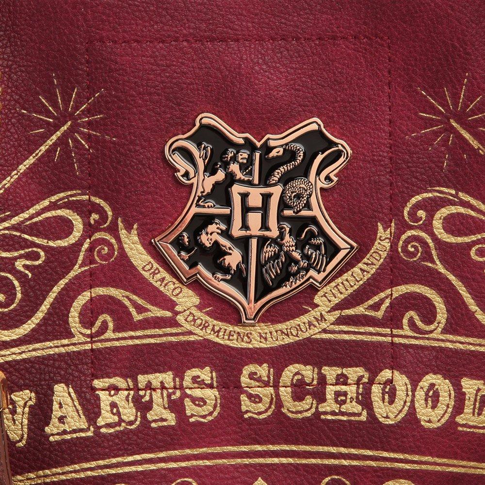 Loungefly Bolso Harry Potter con asas diseño school - Piel: Amazon.es: Ropa y accesorios