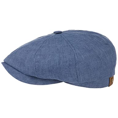 032cdb49 Stetson Hatteras Linen Newsboy Cap for Women and Men Cap Flax with  Peak,with Lining