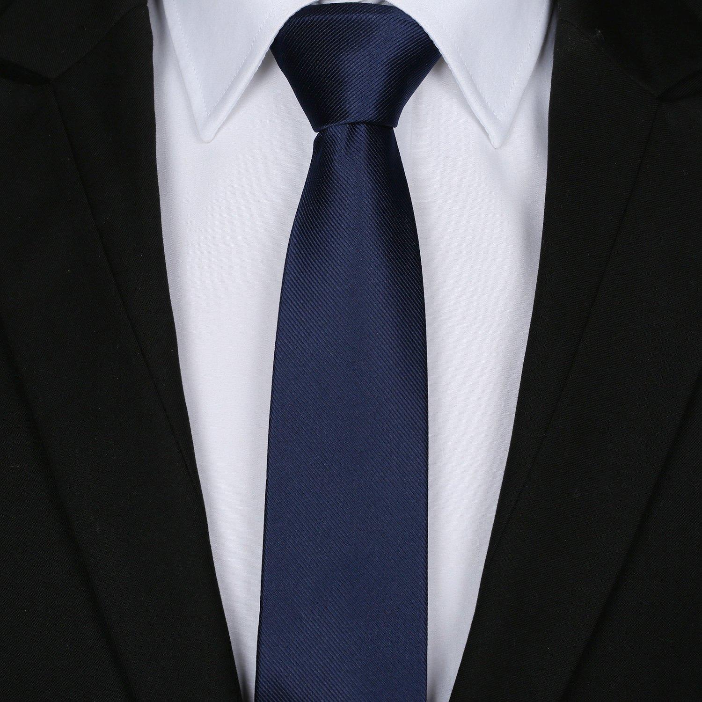 Elviros Écologique Cravate Étroit Solide Couleur Uni Homme 2.4   6cm    19022AM 2f85d1696af