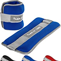 Movit® Set van 2 gewichtsmanchetten neopreen met reflecterend materiaal (2 x 0,5 kg/1,0 kg/1,5 kg/2,0 kg/3,0 kg…