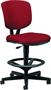 HON Volt Task Stool - Upholstered Adjustable Office Stool, Crimson (H5705)