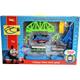 Kiditos Tomas and Friends Battery Operated Train Track Set with over-Bridge with Tunnel