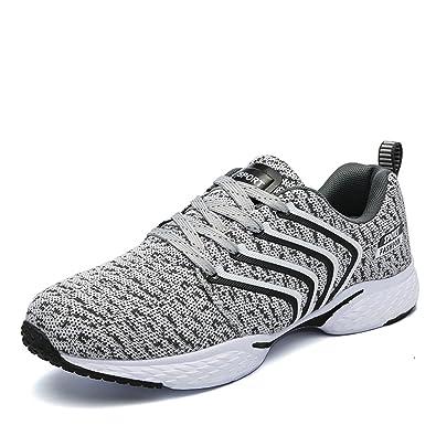 Damen Schuhe Sneakers Bequeme Sportschuhe Runner Leichte Turnschuhe Freizeitschuhe Trainer Grau Silber 39 c6cEpq7eO