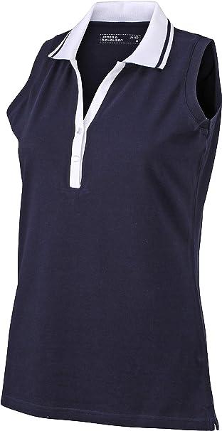 James & Nicholson – Polo Camiseta de Tirantes para Mujer sin ...
