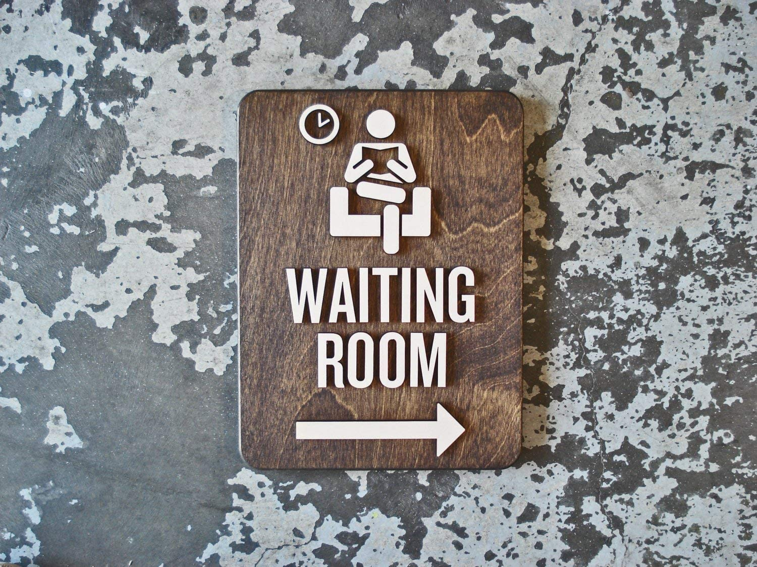 Adonis554Dan Waiting Room Office Signs With or Without Arrow 9 x 12 Size Patient Area Modern Reception Signs age Business Way Finding Decor